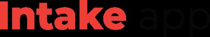 Intake app logo-rood-zwart