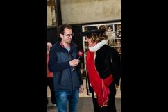 Kapitein Frans Banninck Cocq wordt geïnterviewd