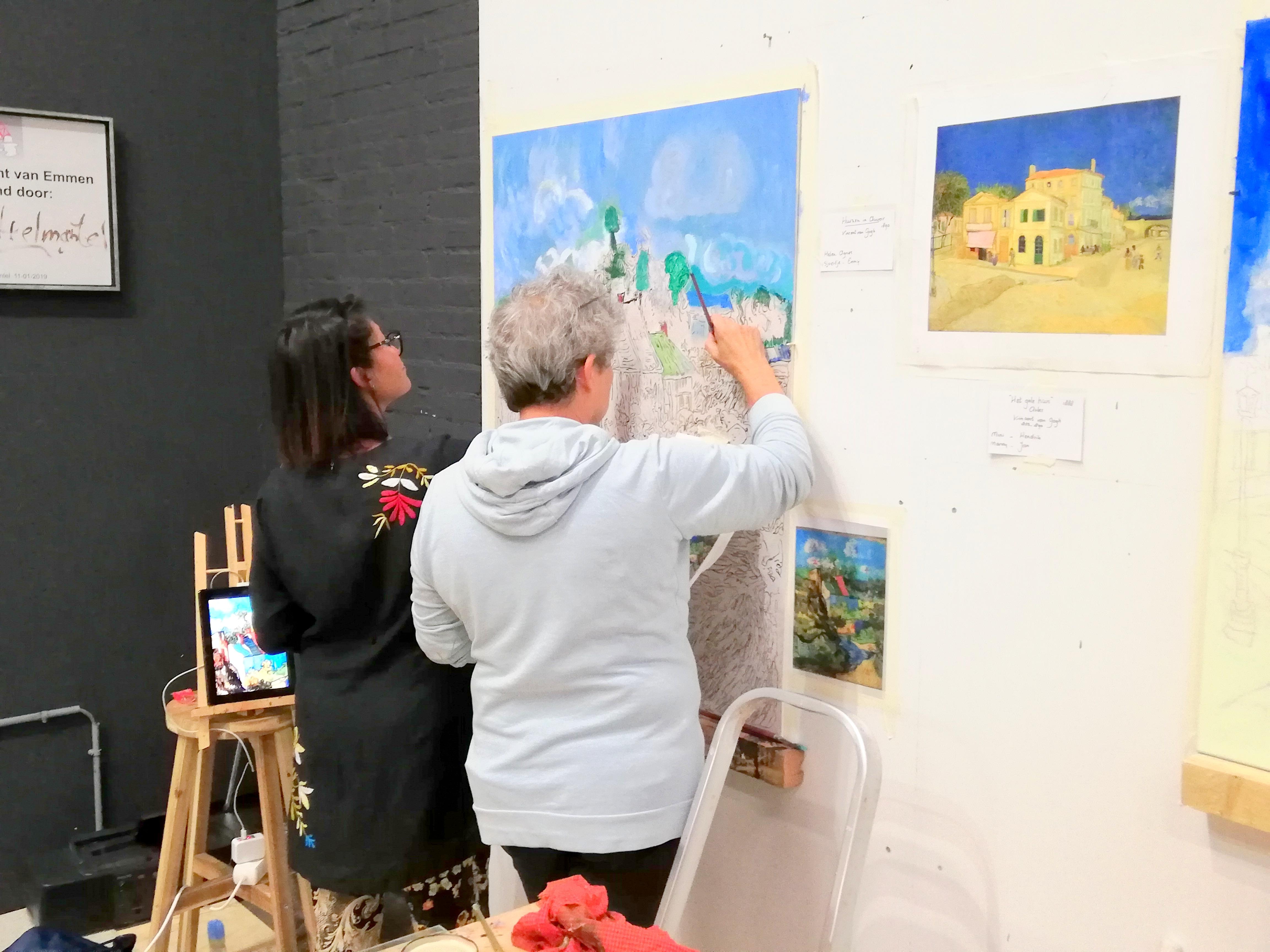 samen werken aan van Gogh